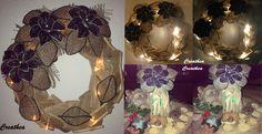 Nespresso:Corona e alberello con i fiori di Nespresso e Juta