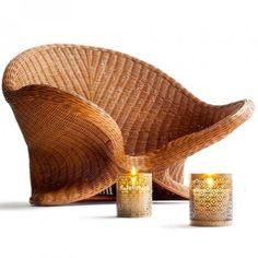 rattan meditation chair, armchair lotus...