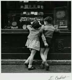 Black and white love childhood oldies kissing