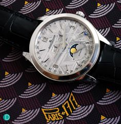 The Jaeger-LeCoultre Master Calendar with Meteorite Dial. A nice dressy timepiece for a gentleman.