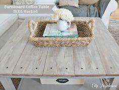 Hemnes Beautified Barnboard Coffee Table #DIY #ikea #hack