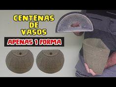 Vaso de Parede Fazendo 30 vasos Por Dia com a Mesma forma - YouTube Cement Crafts, Concrete Projects, Concrete Garden, Diy And Crafts, Crafts For Kids, Pots, Diy Planters, Projects To Try, Make It Yourself