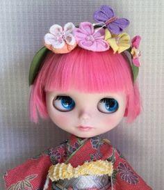 It is spring Custom Blythe (USED)  Buy her here:   #blythe #blythedolls #kawaii #cute #rinkya #japan #collectibles #neoblythe #customblythe