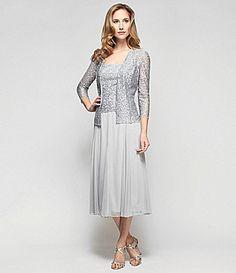 Alex Evenings Swirl Jacket Dress