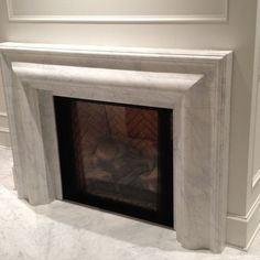 White Marble Fireplace Surrounds - Indoor Fireplaces