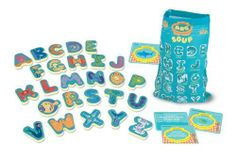 Melissa & Doug Undersea Alphabet Soup Game by Melissa & Doug. $13.32. Adorable artwork features a different kind of sea creature on every letter. Includes play ideas for activities and games in and out of the pool. Fade-resistant colors stand up to chlorine and sun exposure. Includes 43 waterproof pieces: 26 foam letter pieces, 16 challenge cards and mesh bag. A colorful letter-identification and spelling game for all reading levels. From the Manufacturer               ...