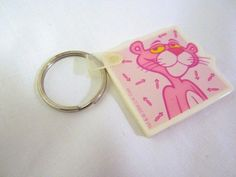 PINK PANTHER Owens Corning Fiberglass Advertising Keychain Key Chain 2002