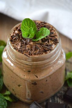 MINT CHOCOLATE CHIA SEED PUDDING - amazing simple dairy-free recipe via @whattheforkblog