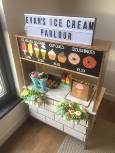 Evan's ice cream parlour, definitely the most fun thing I've ever made - IKEA Ikea Kids Kitchen, Kitchen Storage, Ikea Childrens Kitchen, Ikea Toys, Toy Rooms, Creative Kids, Diy Toys, Play Houses, Cool Kitchens