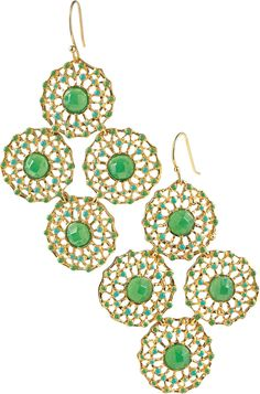 Stella & Dot Garden Party Chandelier Earrings