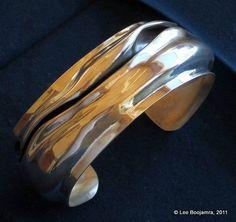 Sterling Silver Cuff Bracelet by PinkCoyoteJewelry on Etsy, $888.00