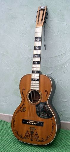 1930s Regal parlor guitar.