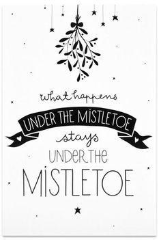Bekijk de foto van Marington-nl met als titel Kerst quote - Christmas quote   What happens under the mistletoe... en andere inspirerende plaatjes op Welke.nl.