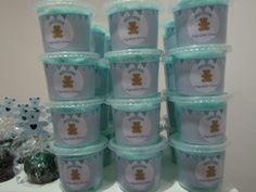 Chá de bebê junino - algodão doce azul