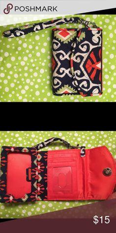 Vera Bradley wristlet iPhone 4 in sun valley Vera Bradley Bags Clutches & Wristlets