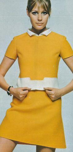 1969 - Vogue Italia, yellow dress #60s #minidress