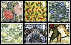 William Morris was the father of the Arts & Crafts movement. He and his contemporaries were honored with British stamps in 2011.