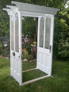 Door arbor with doorbell & Pink Postcard*: how we built our vintage door arbor | tutorials ...