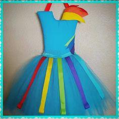 Rainbow Dash Tutu pelo arco titular  mi pequeño Pony pelo