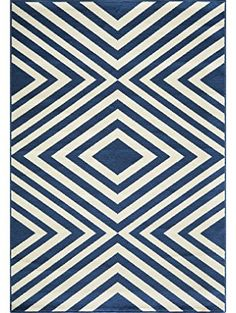 "Momeni Rugs BAJA0BAJ-8NVY7AAA, Baja Collection Contemporary Indoor & Outdoor Area Rug, Easy to Clean, UV protected & Fade Resistant, 7'10"" x 10'10"", Navy Blue ❤ Momeni, Inc DROPSHIP"
