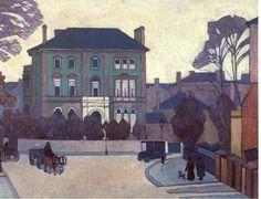 Robert Polhill Bevan. The Green House, St John's Wood. ca.1918. (Leeds University Art Collection]