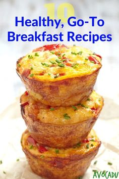 10 Healthy Go-To Breakfast Recipes | Clean Eating Recipes | Healthy Recipes for Weight Loss | Avocadu.com via @avocadulife