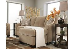"""The Circa - Taupe Queen Sofa Chaise Sleeper from Ashley Furniture HomeStore (AFHS.com). The """"Circa-Taupe"""" upholstery collection take the comfort of the warm toned upholstery fabric and surrounds the stylish contemporary design to create an exciting Metro Modern collection perfect for any home."""