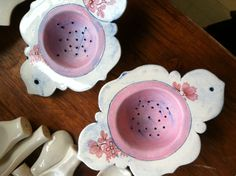 Porcelain Tea Strainers - Linda Fahey