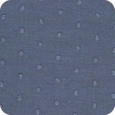 Plumetis bleu jean