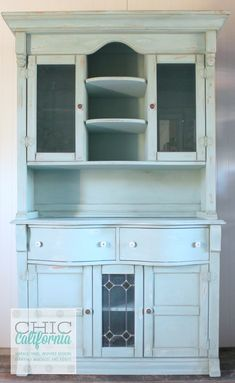 My hutch is very similar to this one. I've never liked it as oak, this inspires me to finally give it some new paint and new life!!!