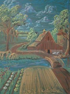 Bordtekening boerderij klas 3 door Lieke Winterwerp