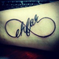Infinity ehfar Tattoo Design