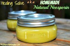 How to Make an All Natural Homemade Boo-Boo Salve a.k.a. Homemade Neosporin