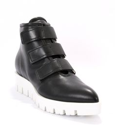 Black / White Leather Ankle Boots | Mini Centro
