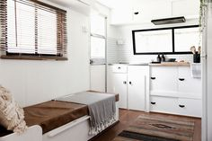 caravan interior 475340935670323521 - Not-so-handy couple turned a 1982 Windsor Statesman caravan into a blissfull holiday home. With a little help from dad – Living in a shoebox Source by clscfs Caravan Renovation Before And After, Caravan Renovation Diy, Renovation Design, Caravan Makeover, Living Room Remodel, Rv Living, Tiny Living, Caravan Living, Airstream Living