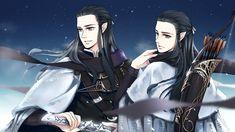 Brothers by akato3.deviantart.com (Elladan and Elrohir)