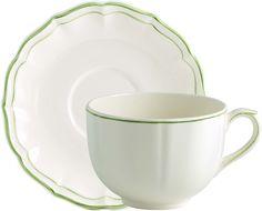 Gien France Filet Vert Dinnerware - Jumbo Cup & Saucer