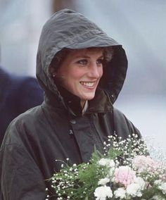 July 3, 1985:  Princess Diana at Castlebay on the Isle of Barra, Outer Hebrides