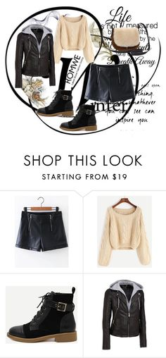 """Romwe 4"" by dinka1-749 ❤ liked on Polyvore featuring Wilsons Leather and UGG"