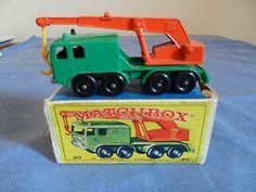 Matchbox Lesney No.30c, GRN/ORNG, 8 Wheel Crane, Nm/with Box,1965 - http://www.matchbox-lesney.com/49360