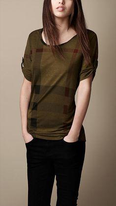 Printed Check T-Shirt | Burberry