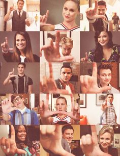 glee and loser sign