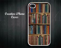 Stack of Books on Shelf phone protective phone case for the iPhone 4, iPhone 4s, iPhone 5, iPhone 5S, iPhone 5S