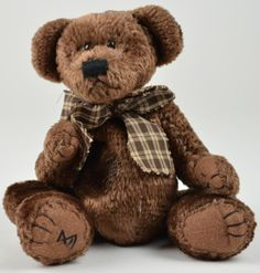 Boyds Bears - The Head Bean Collection - Brown Bear With Ho Ho Ho Hat