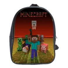 MINECRAFT 100% GENUINE LEATHER XL BACKPACK for only $29.99
