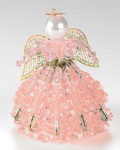 Safety Pin Angel Patterns | ... Safety Pin Angel Kit - OCTOBER / TOURMALINE - - Angel Doll Kits