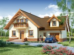 DOM.PL™ - Projekt domu DA Gracjan CE - DOM DS1-01 - gotowy koszt budowy 2bhk House Plan, Model House Plan, Dream House Plans, Small House Plans, My Dream Home, Simple House Design, Modern House Design, Beautiful House Plans, Beautiful Homes