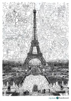 Whimsical Drawings Of London, Paris And Moscow - DesignTAXI.com