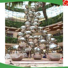 tainless Steel Ball Sculpture, Gazing Ball Design Sculpture email: bella@dongyuan.cc