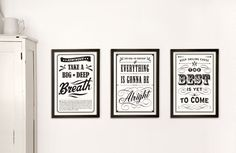 From EvaJuliet's Etsy shop. I want these for my house!!  http://www.etsy.com/listing/62641259/three-vintage-posters-13x19